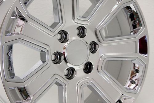 "Chrome 20"" With Chrome Inserts Wheels for GMC Sierra, Yukon, Denali - New Set of 4"