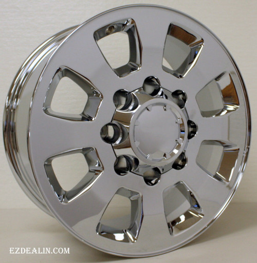 "New Set of 4 Chrome 18"" 8 Lug 8-165 Wheels for 2001-2010 GMC 2500 3500"