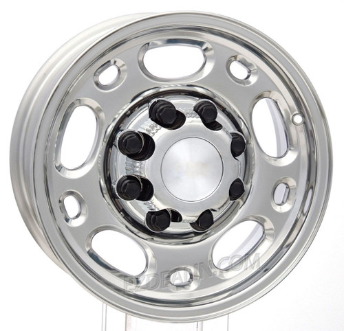 "Polished 16"" 8 Lug 8-165 Wheels for 2001-2010 GMC 2500, 3500, Savana Van - New Set of 4"