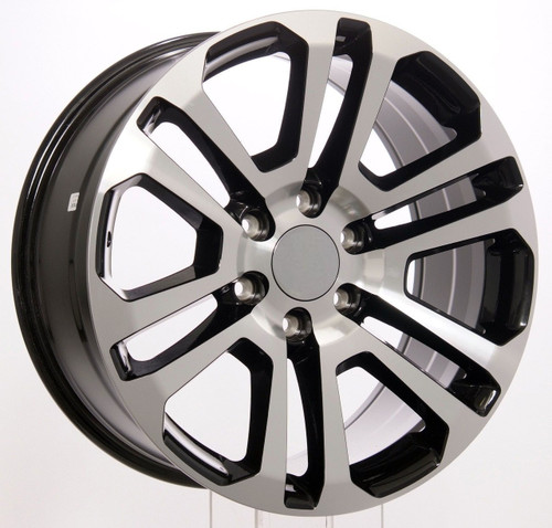 "Black and Machine 22"" Split Spoke Wheels for Chevy Silverado, Tahoe, Suburban - New Set of 4"