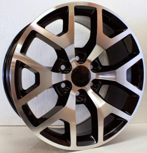 "New Set of 4 Black and Machine 20"" Honeycomb Wheels for GMC Sierra, Yukon, Denali"