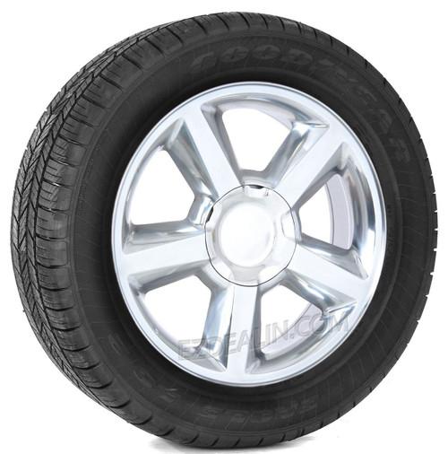 "Polished 20"" Old Style LTZ Wheels with Goodyear Tires for GMC Sierra, Yukon, Denali - New Set of 4"