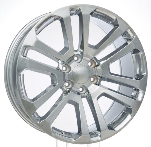 "Chrome 22"" Split Spoke Wheels for GMC Sierra, Yukon, Denali - New Set of 4"