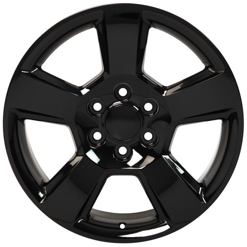 "Gloss Black 20"" New Style LTZ Wheels for Chevy Silverado, Tahoe, Suburban - New Set of 4"