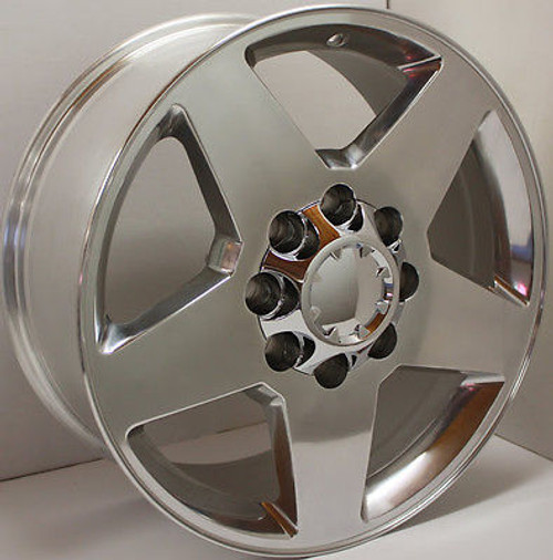 "Polished 20"" 8 Lug 8-165 Wheels for 2001-2010 GMC 2500 3500 - New Set of 4"