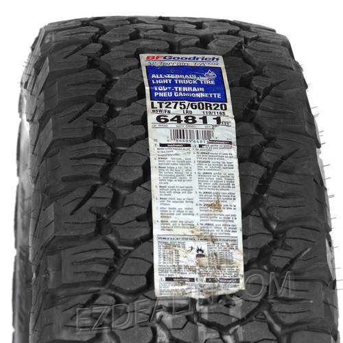 "Snowflake Chrome 20"" Wheels with BFG KO2 A/T Tires for GMC Sierra, Yukon, Denali - New Set of 4"
