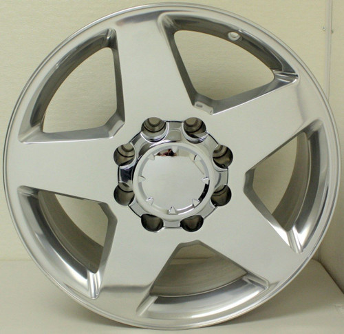 "Polished 20"" 8 Lug 8-165 Wheels for 2001-2010 Chevy 2500 3500 - New Set of 4"