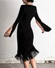 FIGARO BANDAGE FRINGE DRESS