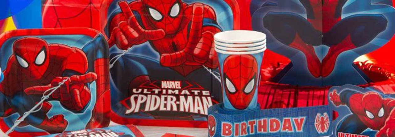 Spiderman Party Supplies For Kids Birthday Party Themes at MTRADE
