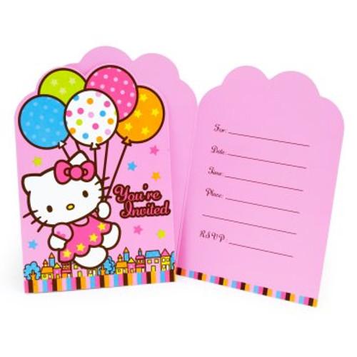 Hello kitty balloon dreams invitation cards envelopes 8pcspack hello kitty balloon dreams invitation cards envelopes stopboris Gallery