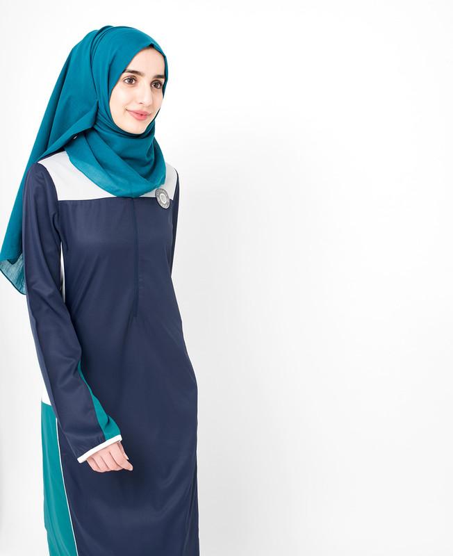 Blue Frost Grey Jilbab