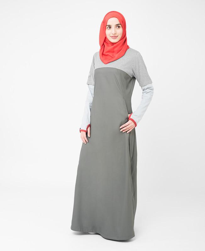 Black Two Toned Jilbab