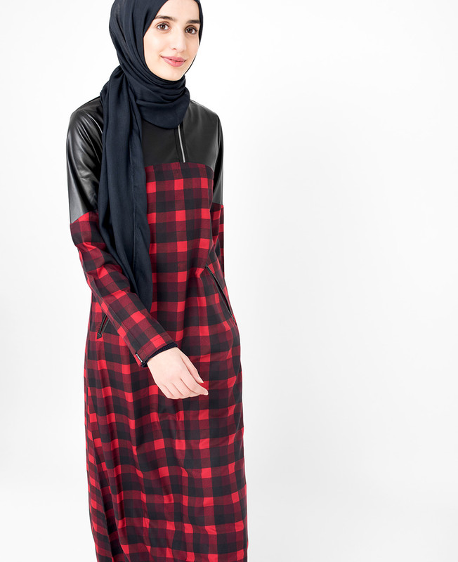 Red Checked Jilbab