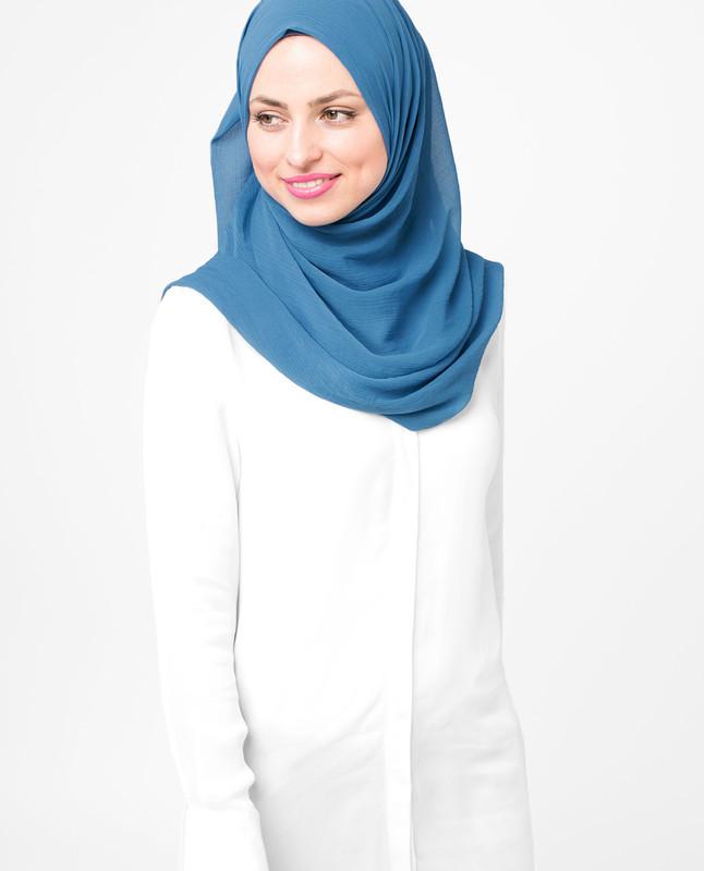 Deep Water Turquise PolyChiffon Hijab