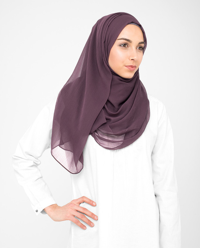 Fudge Brown PolyChiffon Hijab