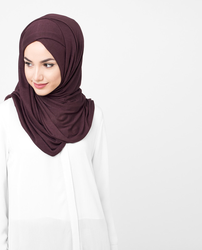 Fig Brown Viscose Jersey Hijab