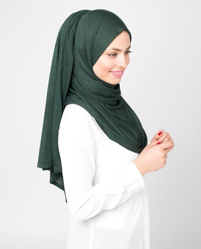 Sycamore Green Viscose Jersey Hijab