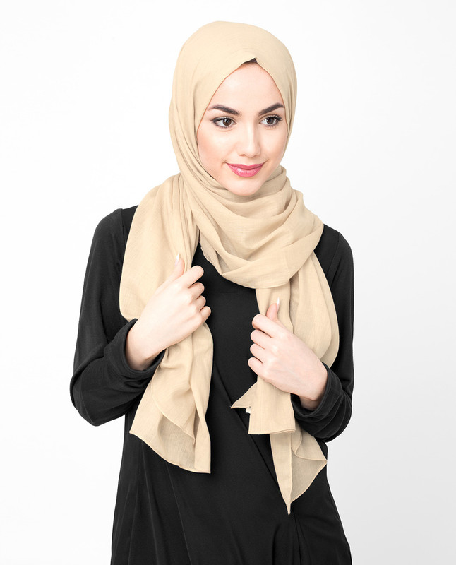 Raven Brown Cotton Voile Hijab