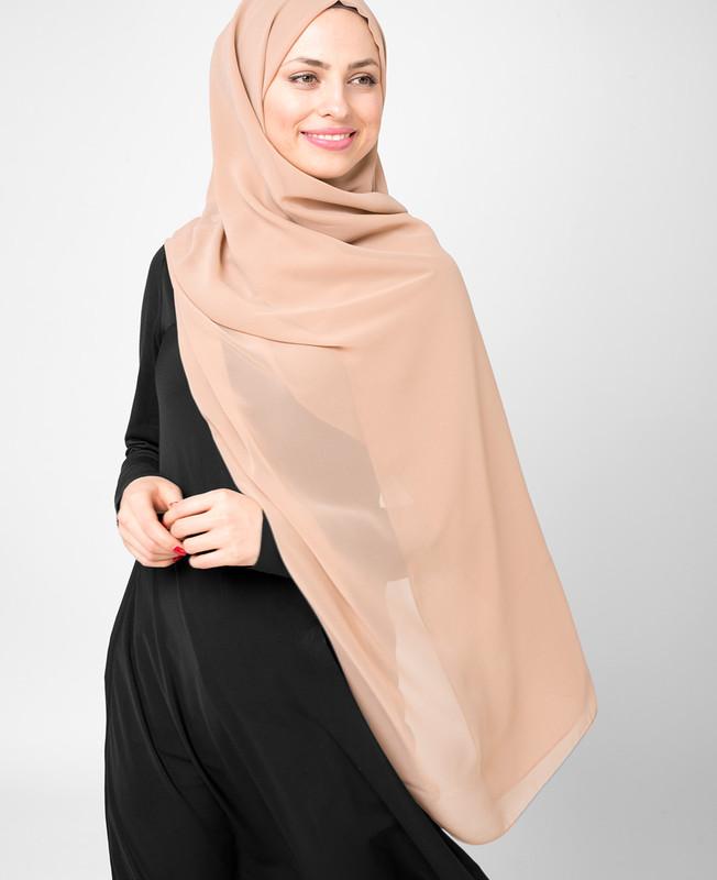 Tuscany Orange Poly Georgette Hijab