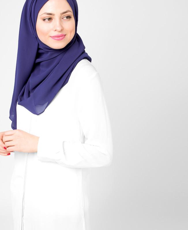 Deep Cobalt Blue Poly Georgette Hijab