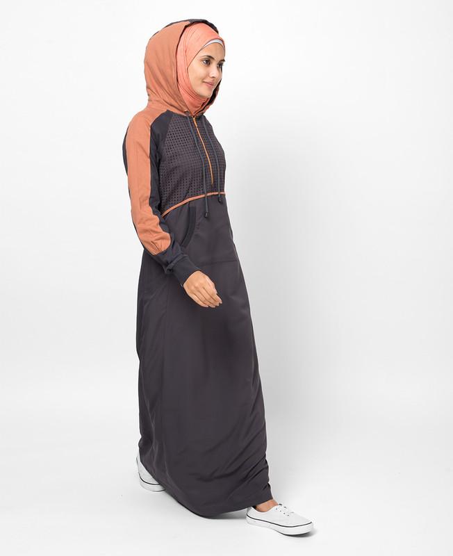 Plum Charcoal Grey Jilbab