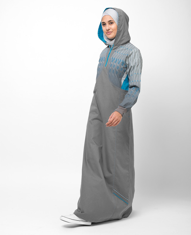 Grey Safari Hooded Jilbab