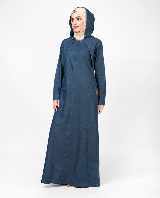 Shoulder Featured Denim Jilbab