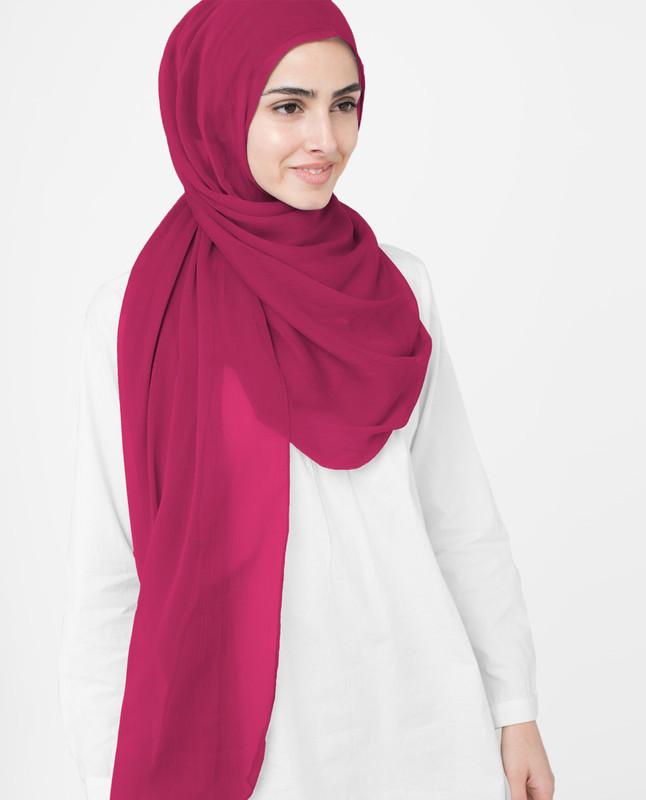 Red Bud Polychiffon Hijab