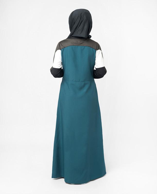 Sports Performance Blue and Grey Jilbab