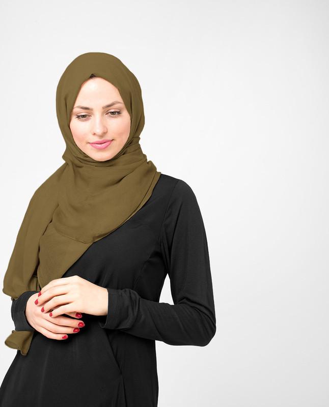 Plantation Green Viscose Hijab