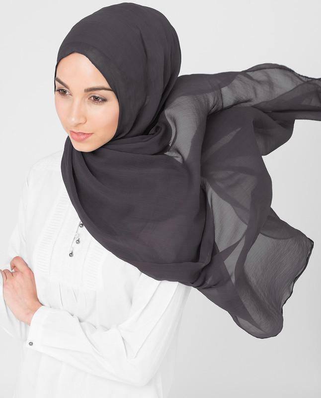Rabbit Grey PolyChiffon Hijab