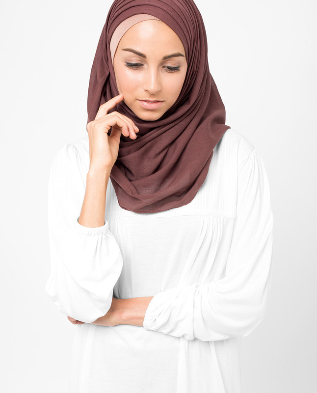 Oxblood Red Voile Hijab