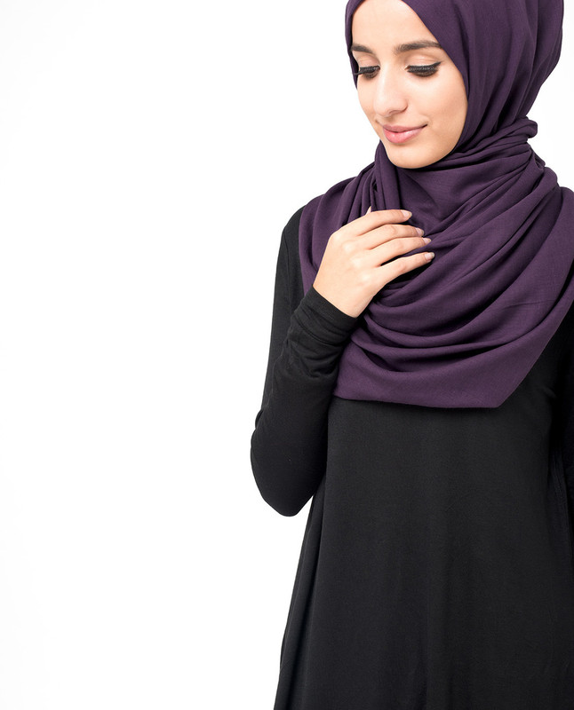 Sweet Grape Purple Voile Hijab