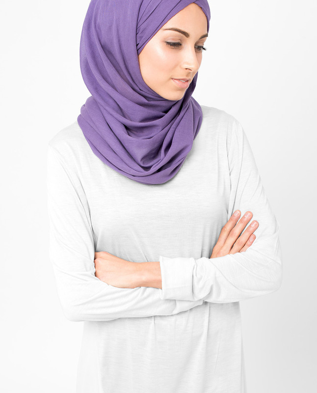 Loganberry Purple Voile Hijab