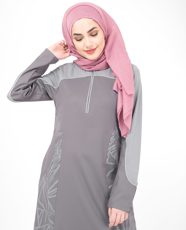 Abstract Print Jilbab