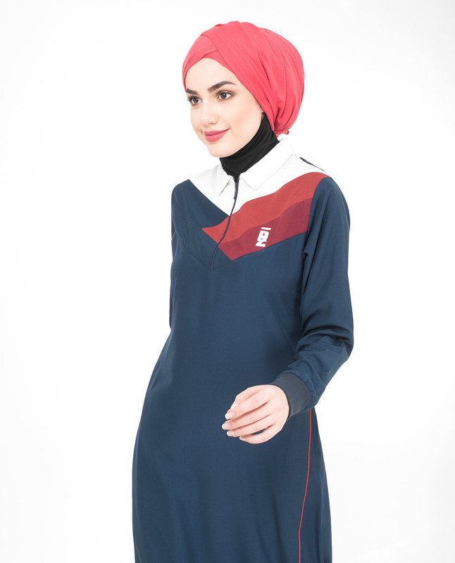 Blue sports jilbab abaya