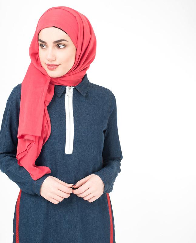 Blue denim jilbab abaya