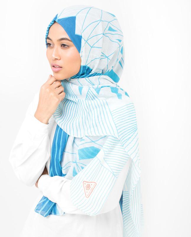 Blue Contour Viscose Hijab