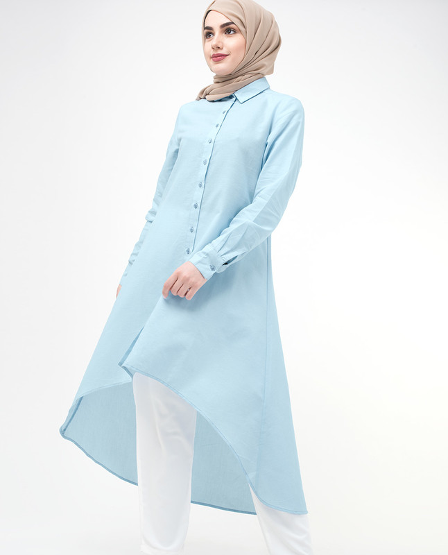 Dip Hem Shirt Dress