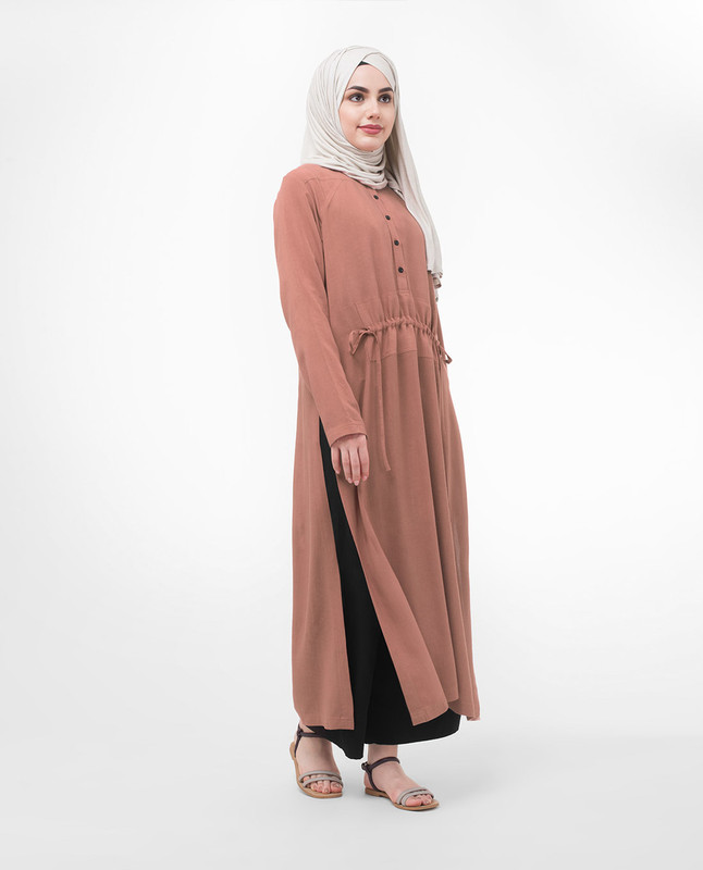 Long Line Modest Dress