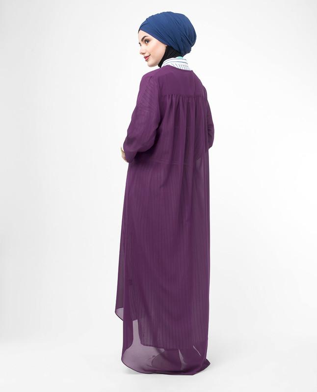 Long Sheer Plum Purple Kimono