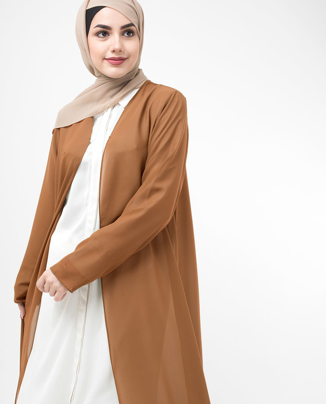 Long Sheer Ginger Brown Outerwear