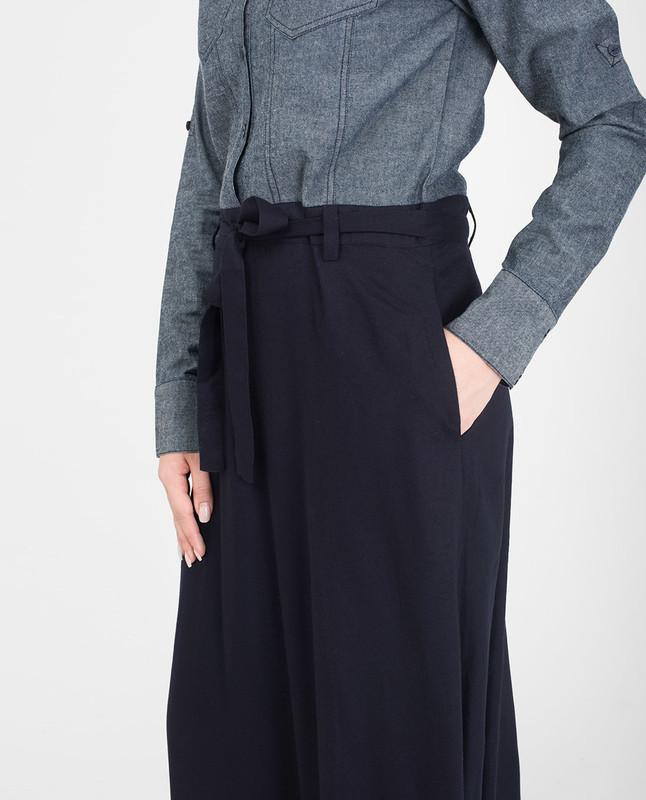 Blue denim belted jilbab abaya