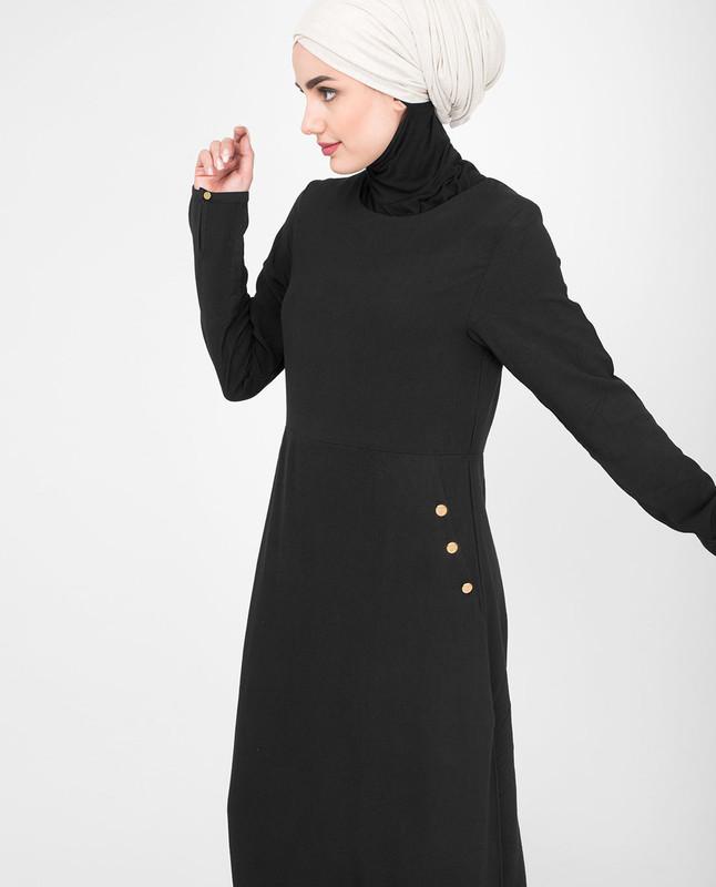 Black elegant jilbab abaya