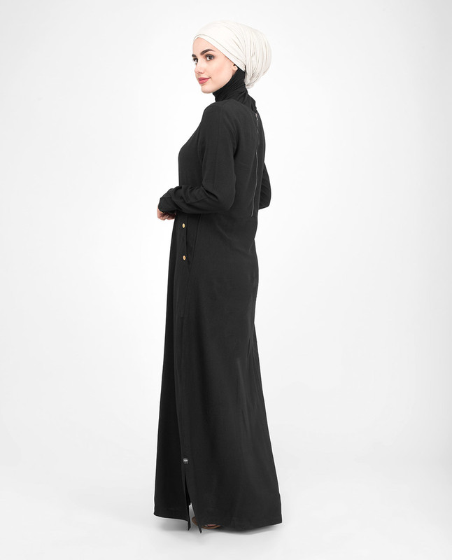Plain black jilbab abaya