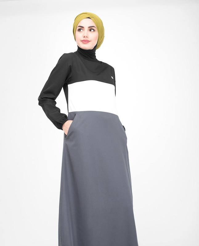 Grey Casual jilbab abaya