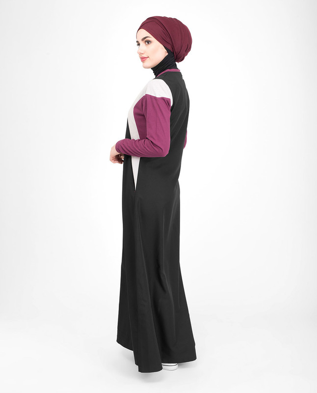 Cotton blue abaya jilbab