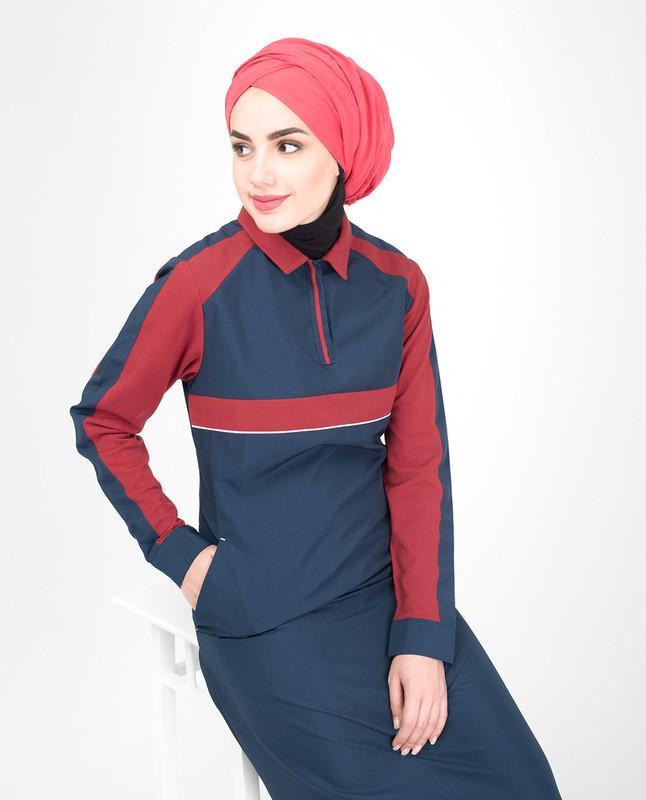 blue jilbab abaya