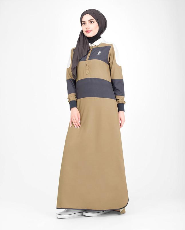 Buttoned abaya jilbab