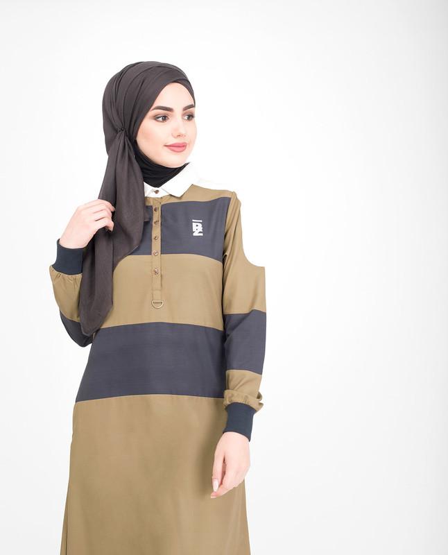 Collar neck jilbab abaya